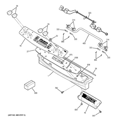 WG02F02757 : GE Range Spark Ignition Switch & Harness Assembly