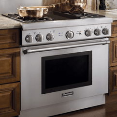 Kitchen Ranges Gas Island With Cooktop Top Ten 36 Inch Of 2017 Appliances Connection Thermador Prg364nlh