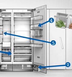 thermador column refrigerator diagram [ 1912 x 817 Pixel ]
