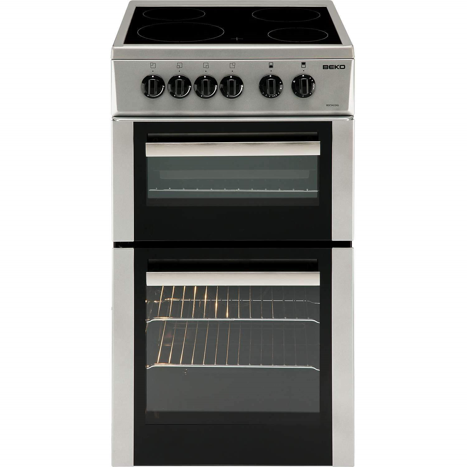 beko electric cooker wiring diagram g body ac bdc5422as 50cm double cavity with ceramic hob silver