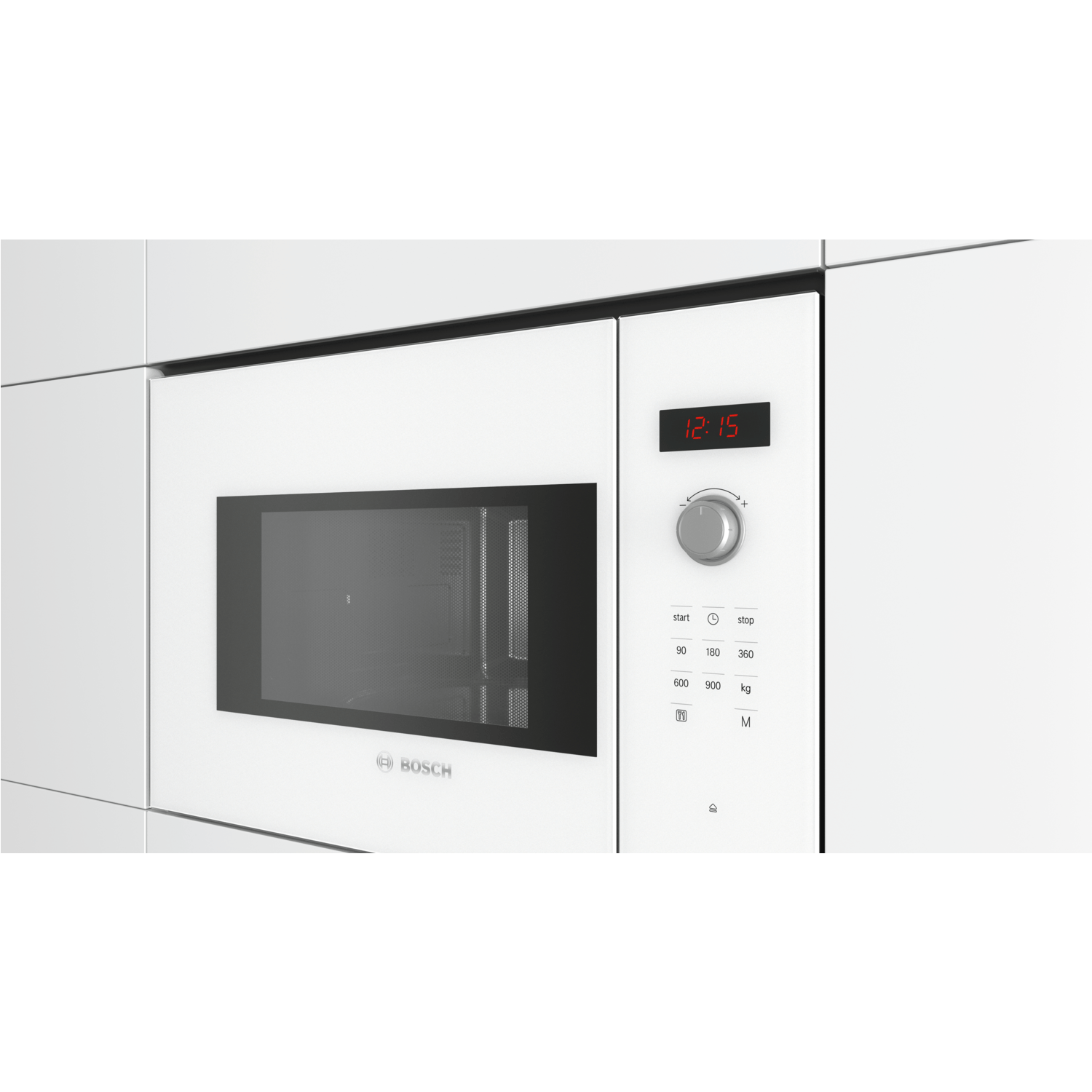 bosch bfl553mw0b serie 4 900w 25l built in microwave oven white