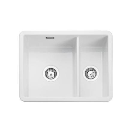 1 5 bowl undermount white ceramic kitchen sink rangemaster rustiqe