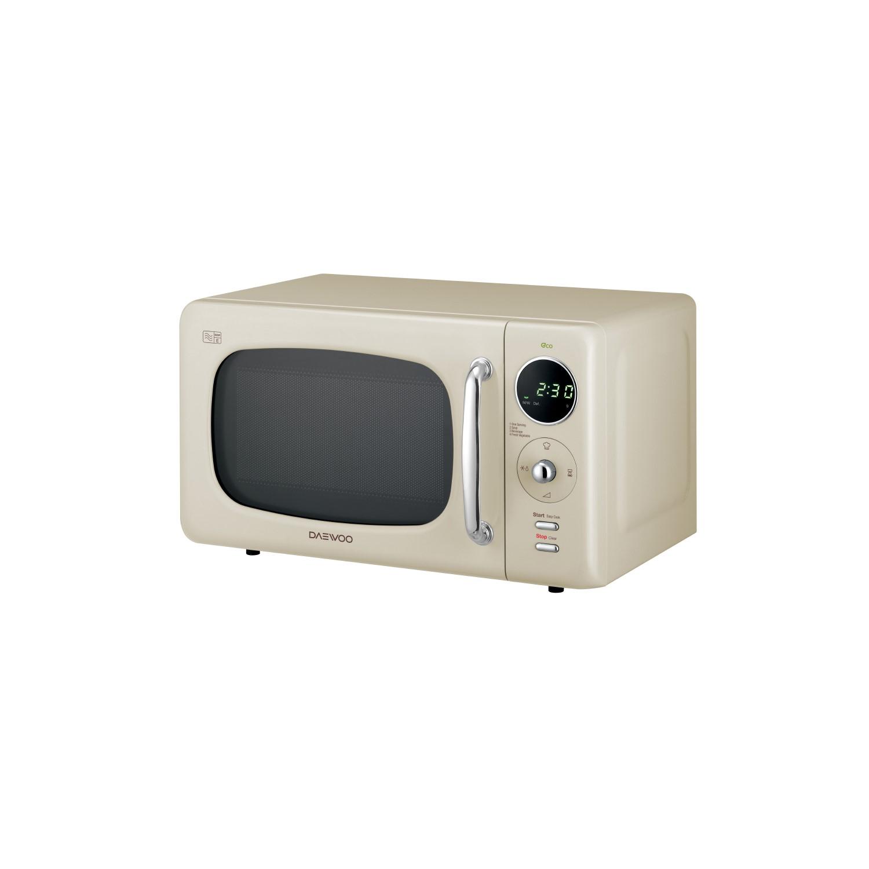 daewoo kor9lbkcr 20l 800w freestanding microwave with eco zero standby cream