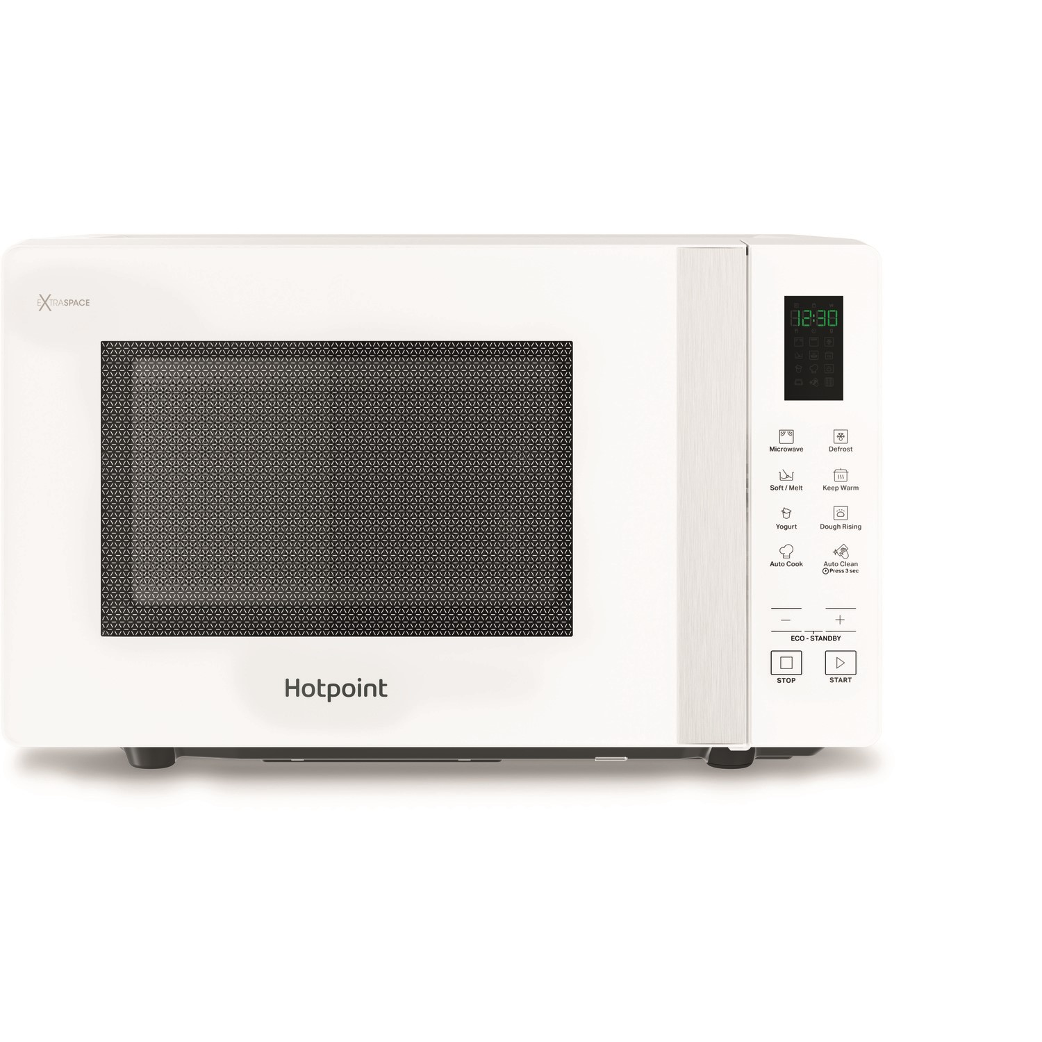 hotpoint mwhf201w xtraspace flatbed 20l microwave oven white