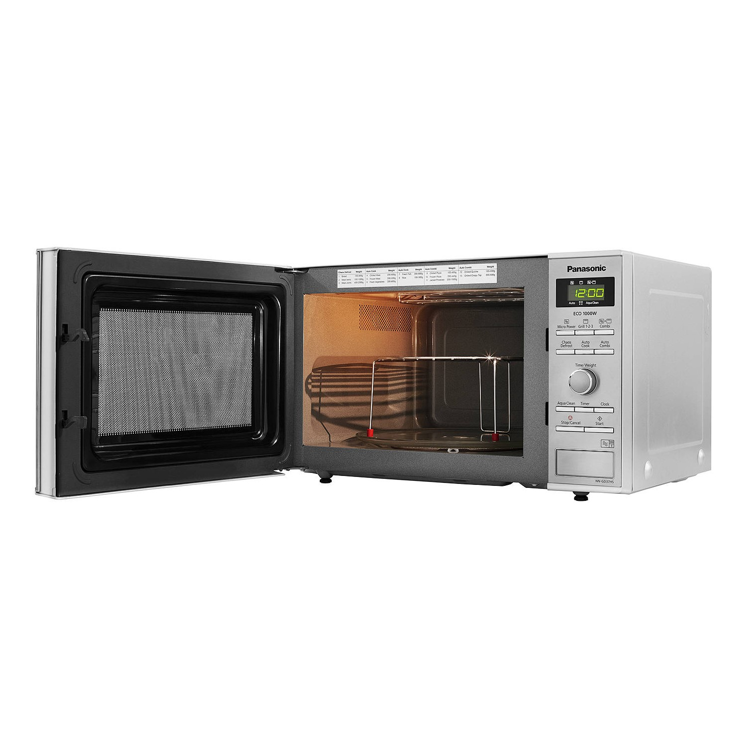 panasonic nn gd37hsbpq 23l inverter microwave and grill stainless steel