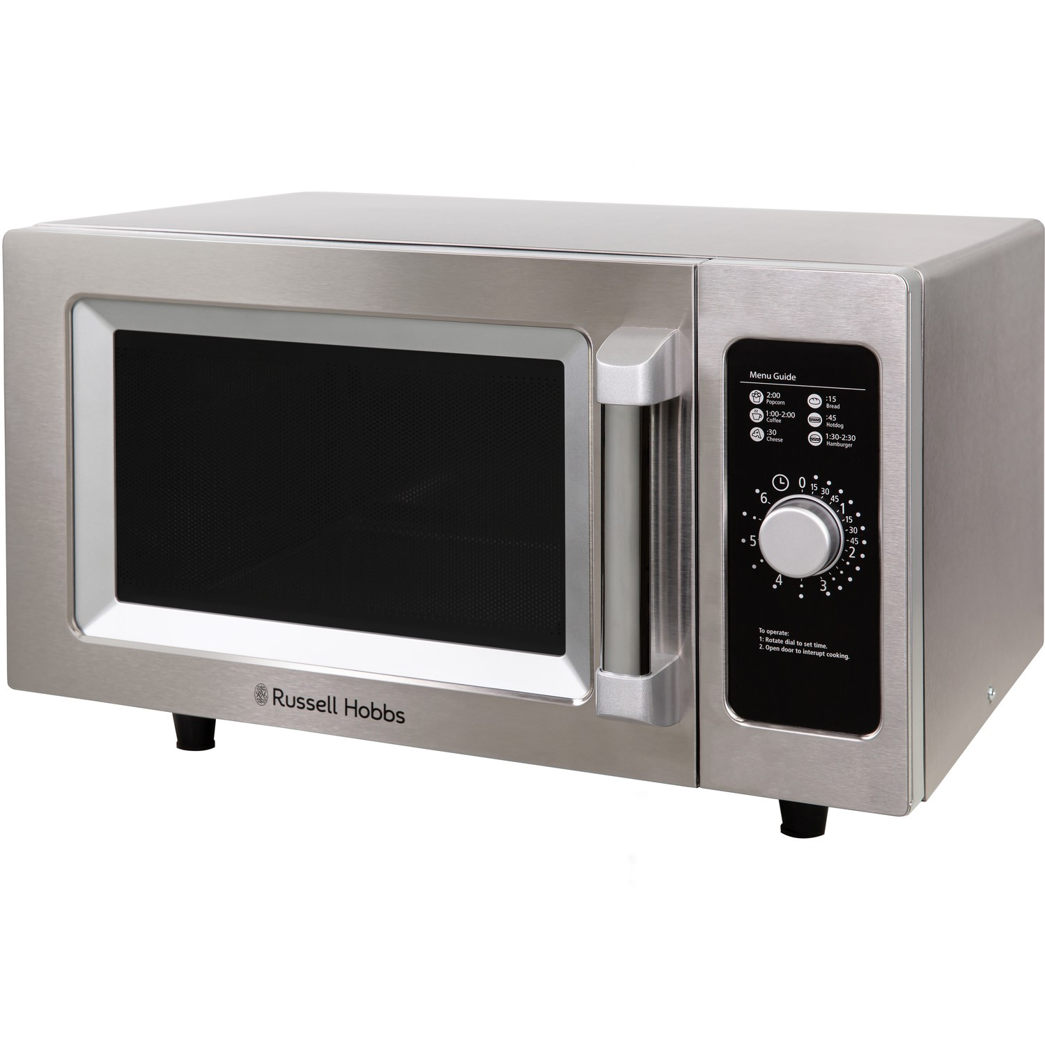 Russell Hobbs RHCM2576SS 25L Flatbed Microwave Oven - Stainless Steel | Appliances Direct