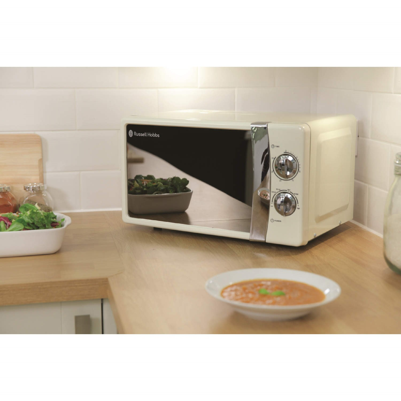russell hobbs rhmm701c 17l microwave oven cream