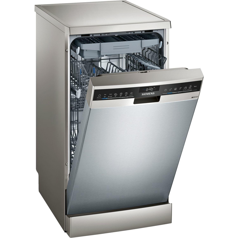 Siemens SR23EI28ME iQ300 Slimline 10 Place Freestanding Dishwasher - Stainless Steel   Appliances Direct