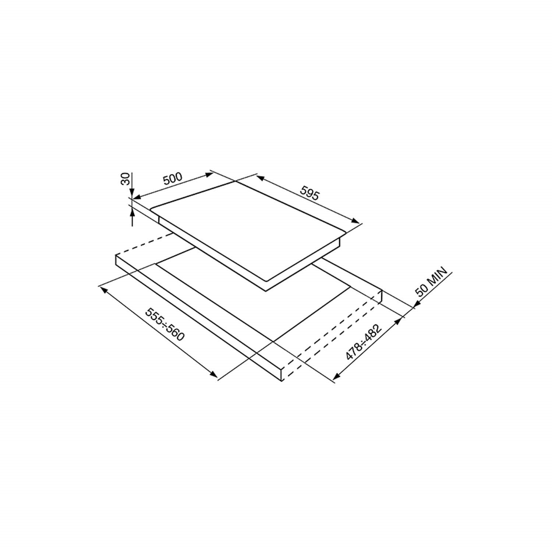 smeg wall oven wiring diagram ibanez rg 140 sr964bgh victoria 60cm white 4 burner gas hob appliances direct