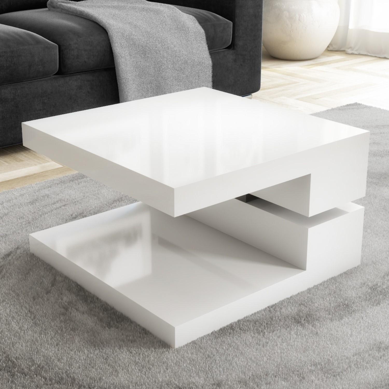 white high gloss coffee table