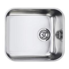 Single Bowl Stainless Kitchen Sink Door Hinges Smeg Um45 Alba Undermount Steel