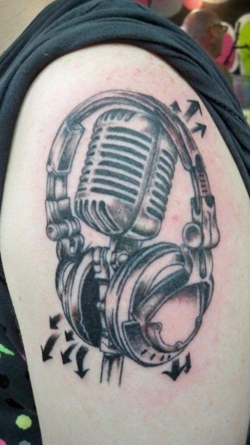Strange Music Tattoo Ideas