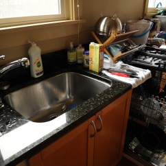 Brown Kitchen Sink Counter Height Sets How To Choose A And Tap Keep Them Both Dish Drainer Microwave In Makeover Seattle Washington Usa