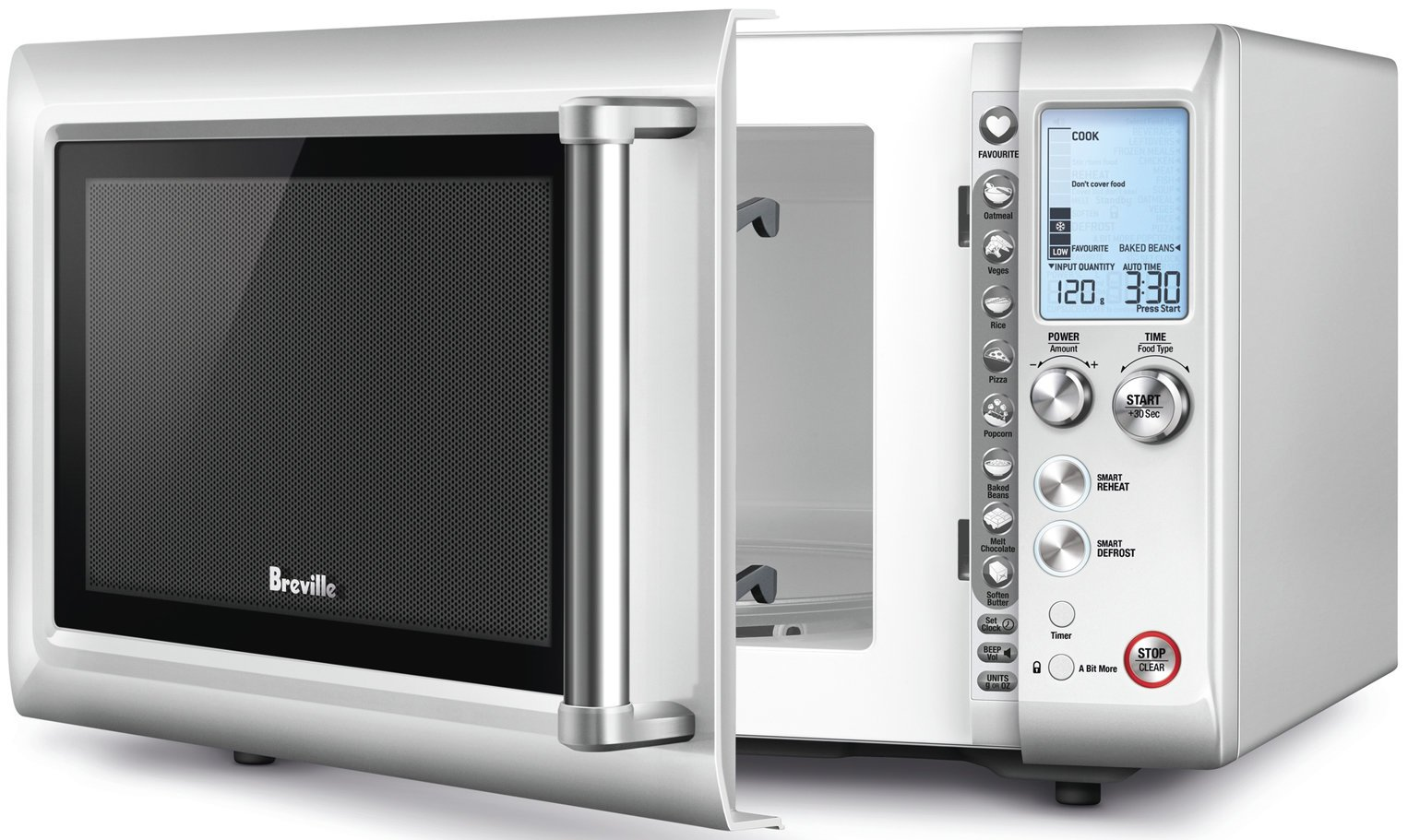 breville bmo625bss 25l the quick touch compact microwave oven 900w