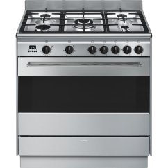 Smeg Double Oven Wiring Diagram Labled Of The Lungs Fs9606xsn 90cm Freestanding Dual Fuel Stove Appliances Online