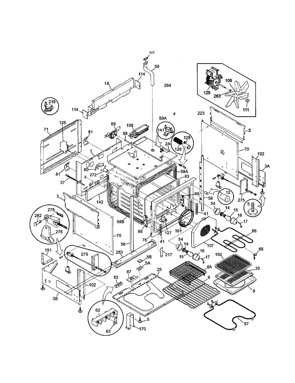 medium resolution of 79046803993 elite electric slide in range body parts diagram