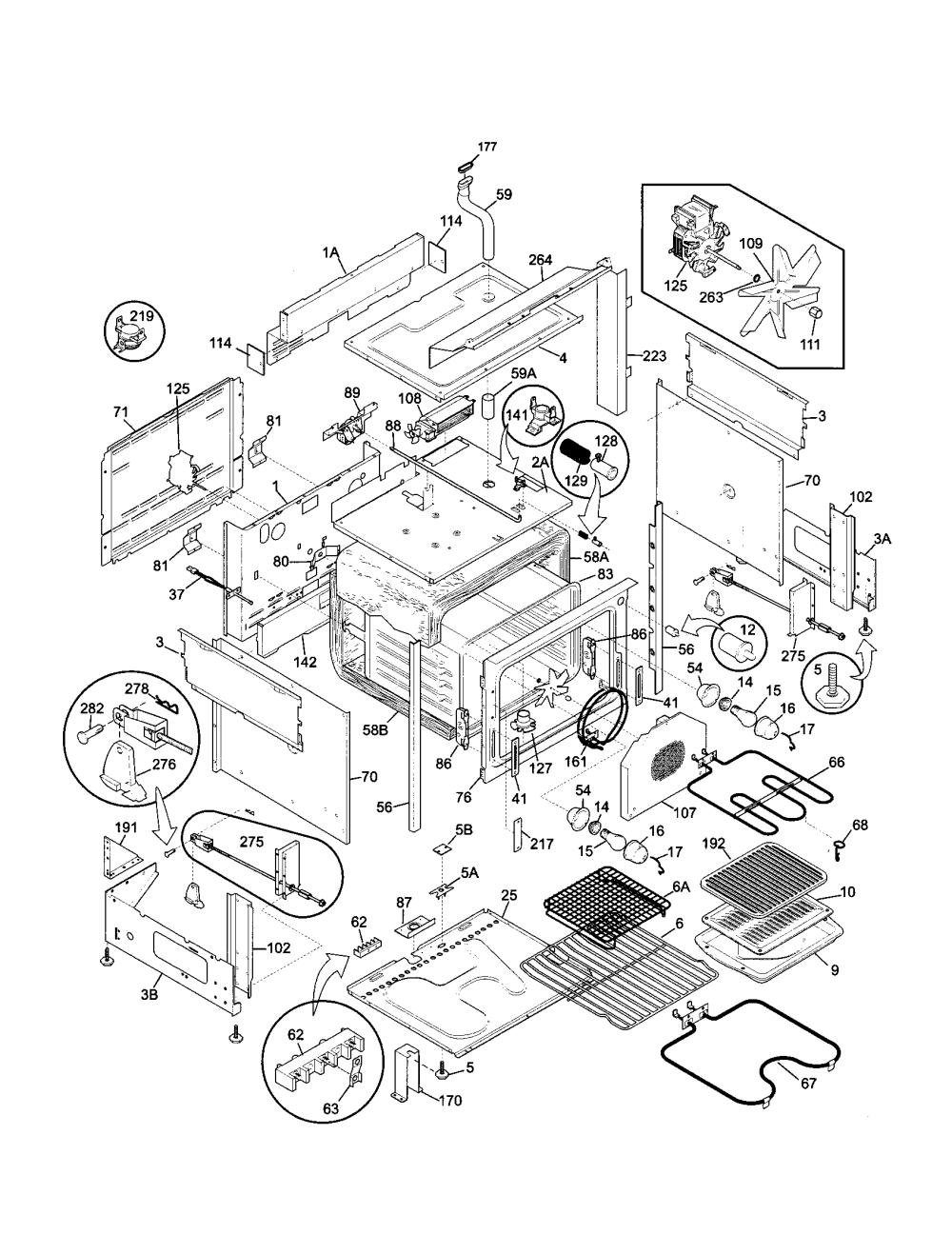 medium resolution of 79046819992 elite dual fuel slide in range body parts diagram