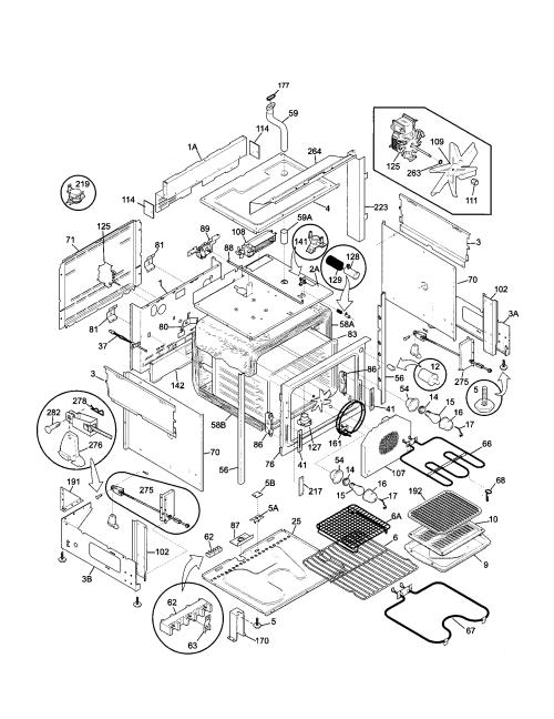 small resolution of 79046819992 elite dual fuel slide in range body parts diagram