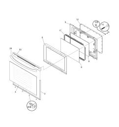 79095042503 electric range door parts diagram [ 1700 x 2200 Pixel ]