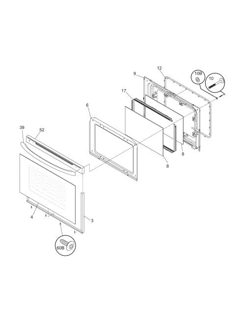 small resolution of 79095042503 electric range door parts diagram