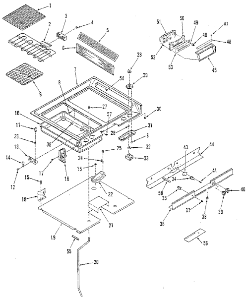 small resolution of 9114698812 electric range main top section parts diagram