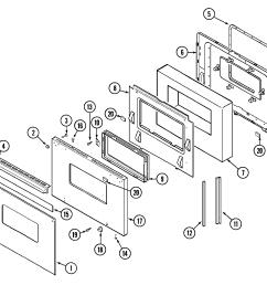 9475xvb range door parts diagram [ 2205 x 1941 Pixel ]