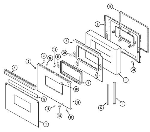 small resolution of 9475xvb range door parts diagram