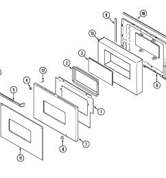 9825vuv electric oven door lower parts diagram magic chef  [ 2145 x 2017 Pixel ]