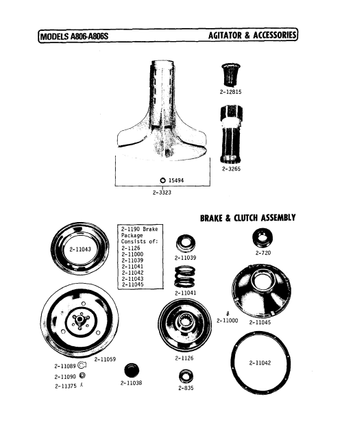 small resolution of a806 washer agitator and accessories parts diagram