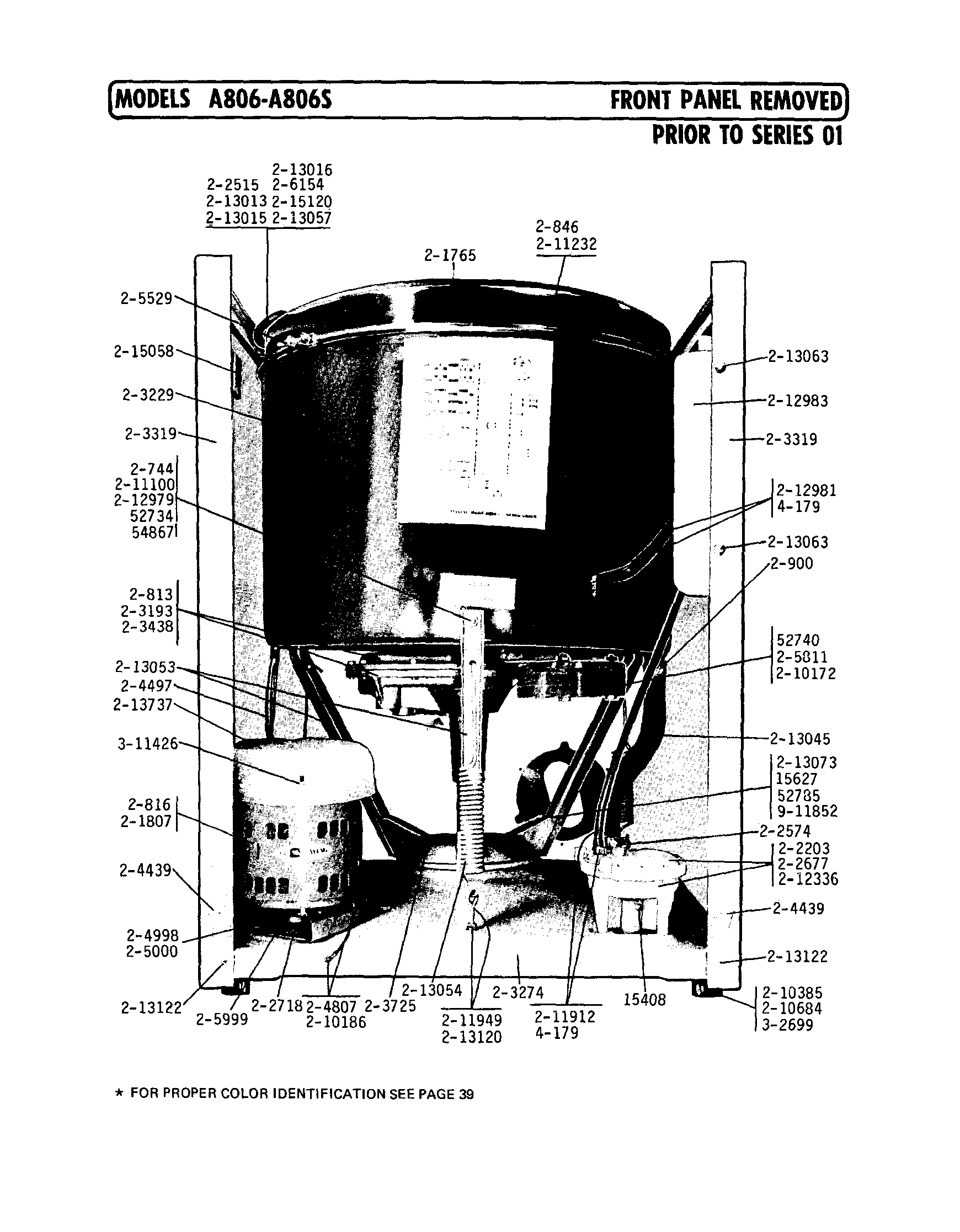 hight resolution of a806 washer front panel removed prior to series 01 parts diagram