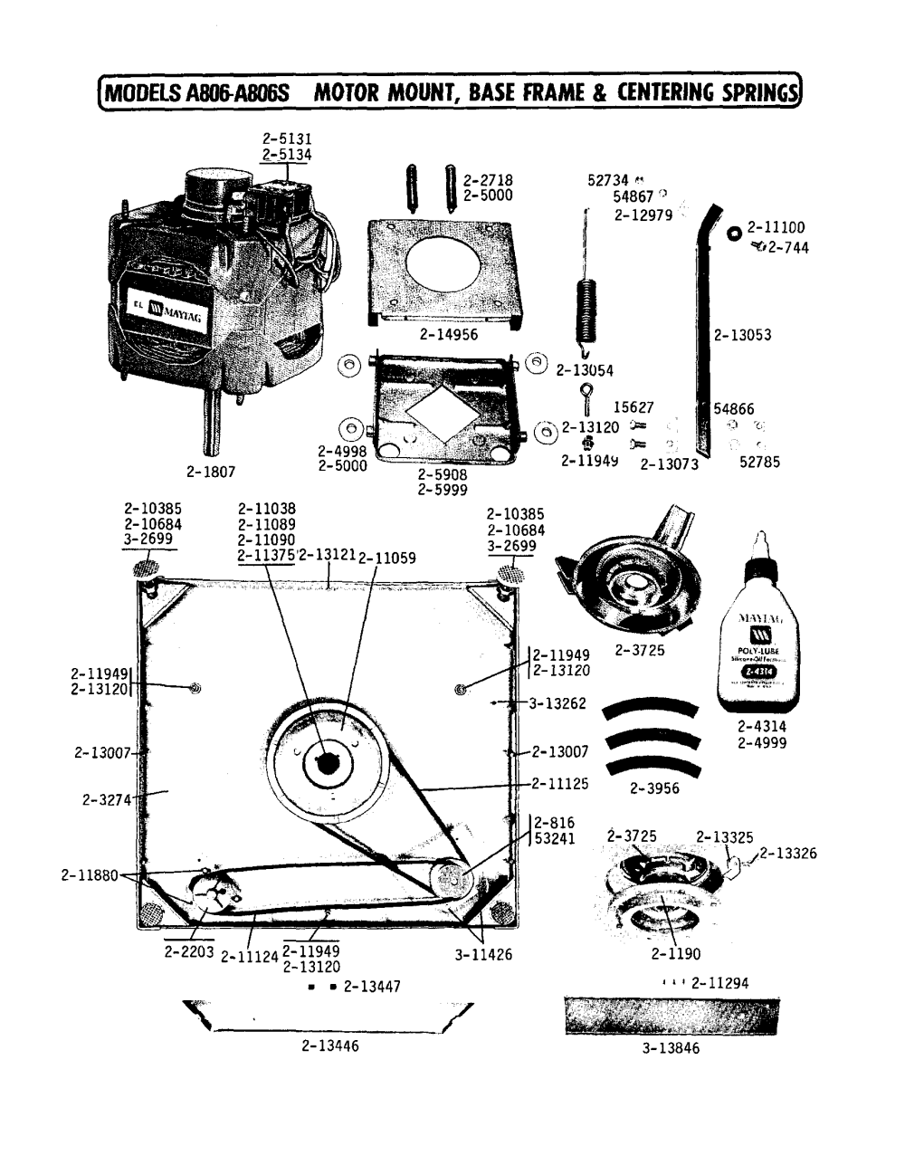 medium resolution of a806 washer motor mount parts diagram