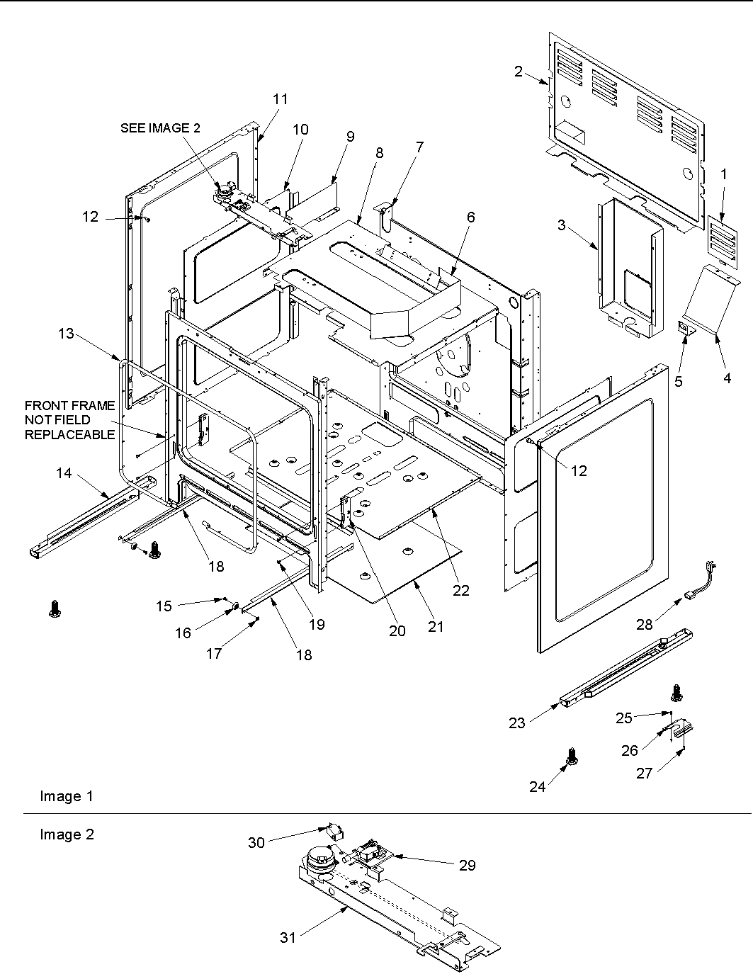 hight resolution of acf3325aw gas range cabinet parts diagram