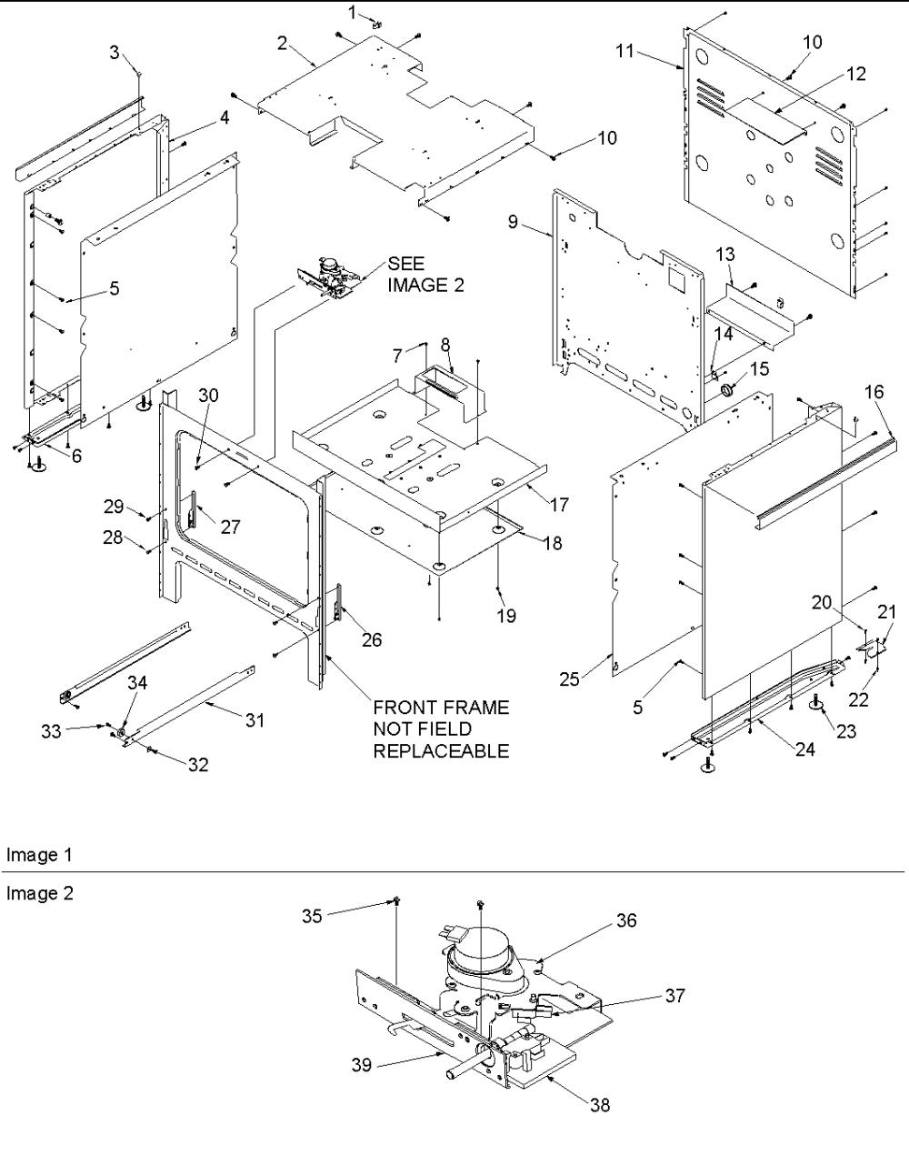 medium resolution of acs3350ab gas range cabinet parts diagram