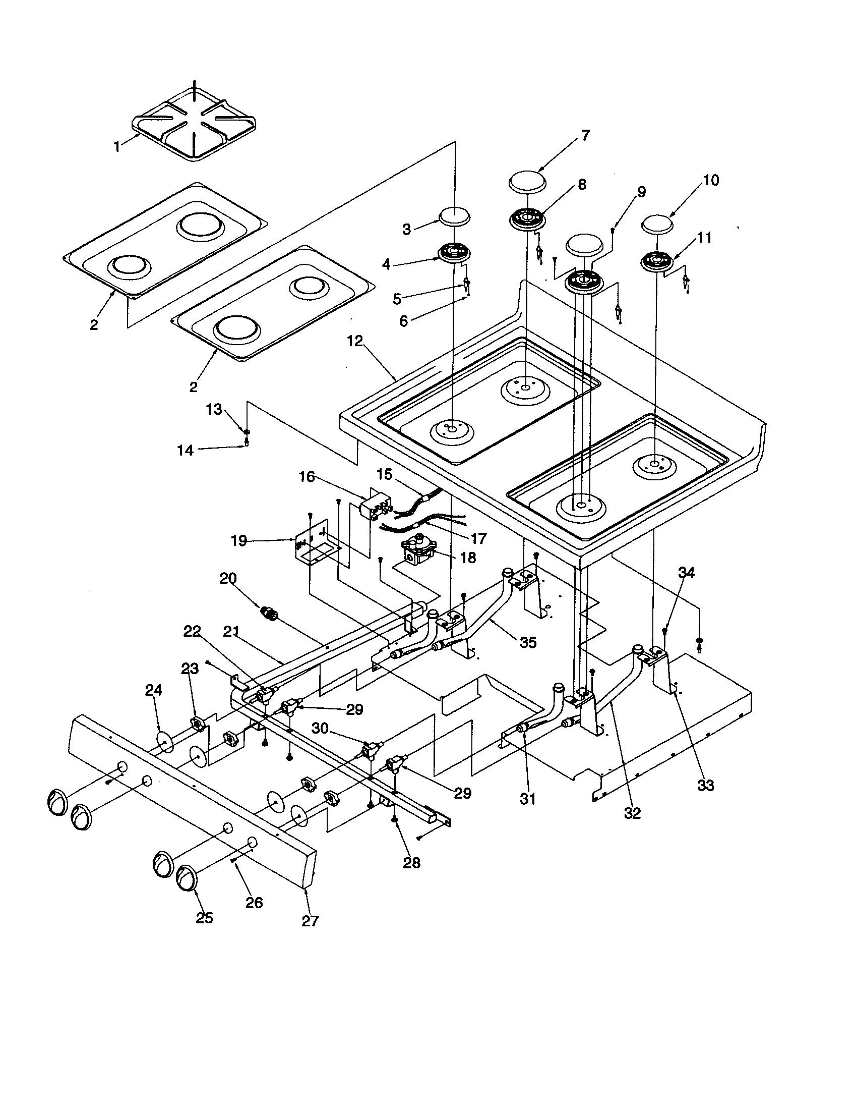 hight resolution of arg7600ww amana arg7600ww timer clock erc main top parts diagram
