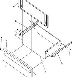 arg7800ww amana arg7800ww timer clock erc storage drawer parts diagram [ 832 x 1000 Pixel ]
