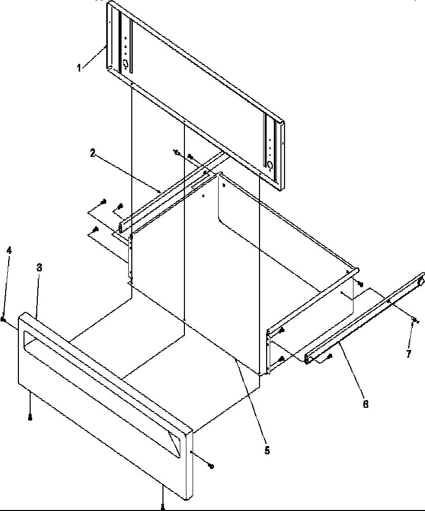 medium resolution of arg7800ww amana arg7800ww timer clock erc storage drawer parts diagram