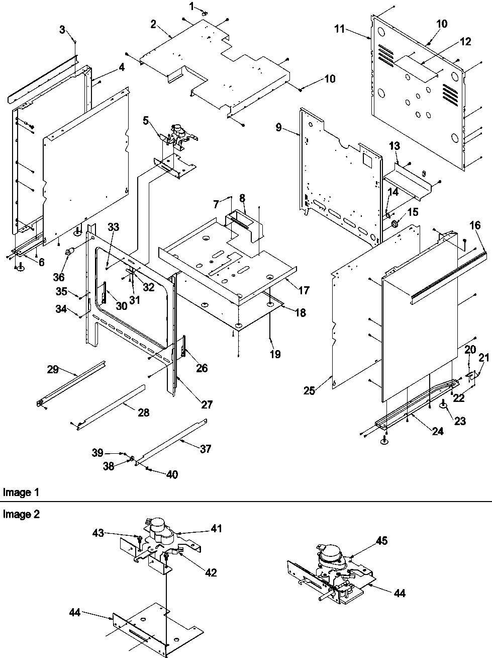 hight resolution of args7650ll gas range cabinet parts diagram