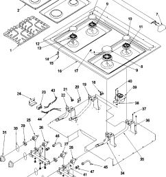 args7650ll gas range main top parts diagram [ 979 x 1308 Pixel ]