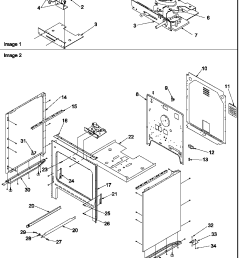 cabinet parts diagram art6511ww electric range  [ 816 x 987 Pixel ]