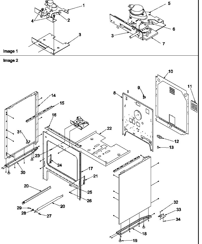 medium resolution of cabinet parts diagram art6511ww electric range