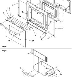 art6511ww electric range oven door and storage door parts diagram [ 800 x 1043 Pixel ]