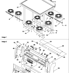 art6610ww electric range and oven main top and backguard parts diagram [ 800 x 1046 Pixel ]