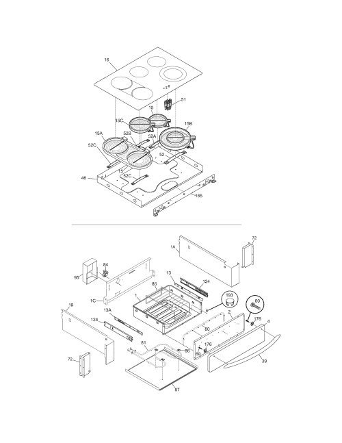 small resolution of cpes389ac1 range top drawer parts diagram