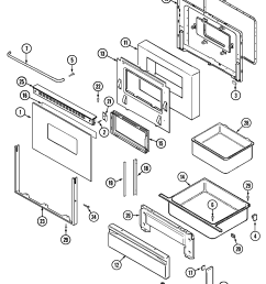 cre9400acl range door drawer parts diagram [ 2173 x 2572 Pixel ]