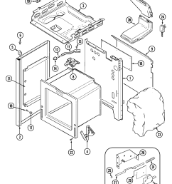 maytag crg9700cae timer stove clocks and appliance timerscrg9700cae range body parts diagram [ 2173 x 2733 Pixel ]