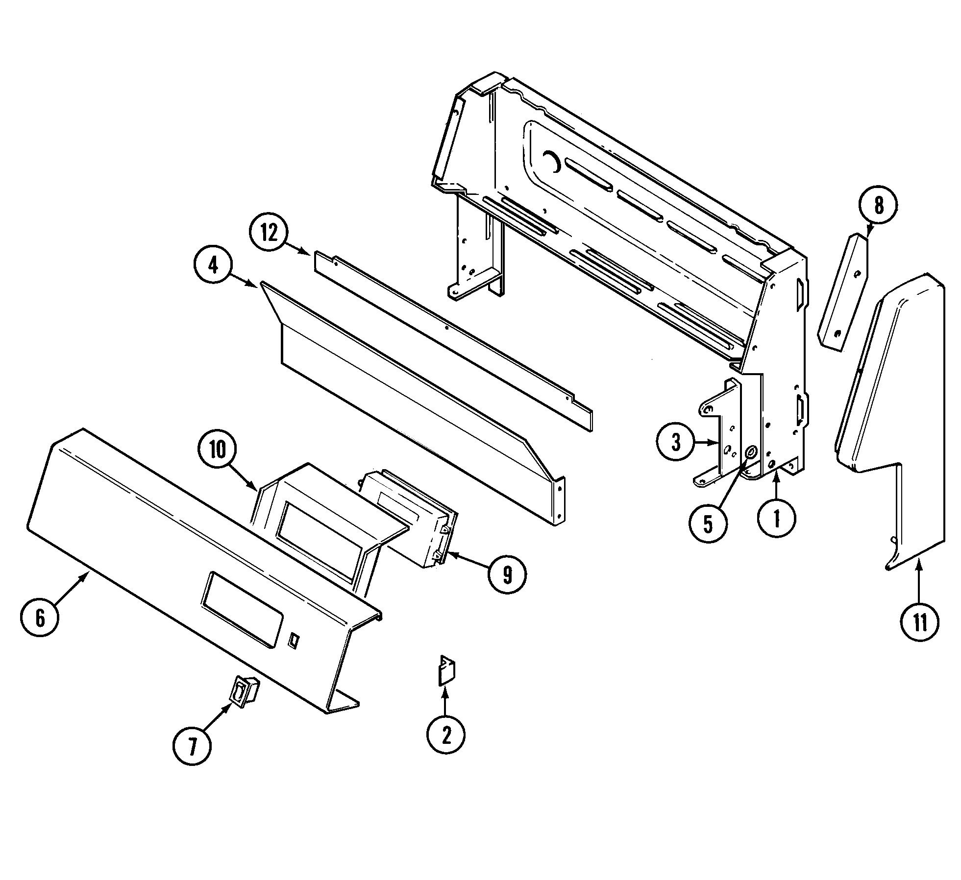 hight resolution of crg9700cae range control panel parts diagram wiring information parts diagram