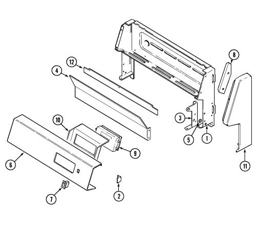 small resolution of crg9700cae range control panel parts diagram wiring information parts diagram