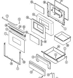 crg9700cam range door drawer parts diagram [ 2237 x 2561 Pixel ]