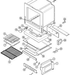crg9700cam range oven base parts diagram [ 2237 x 2705 Pixel ]