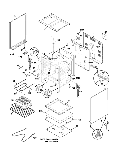 small resolution of fef352asf electric range body parts diagram